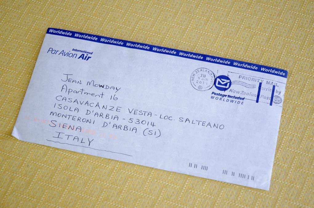letter | toscanakiwi