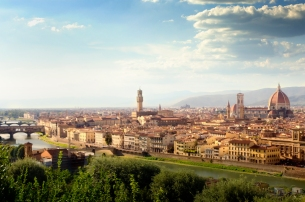 The classic photo of Florence from Piazza Michaelangelo