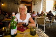 Looking forward to lunch in the Campo at L'Osteria del Bigelli