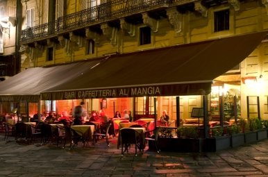 Al Mangia Bar in autumn
