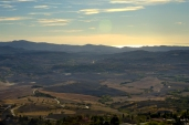 View from Volterra towards the Tuscan coast
