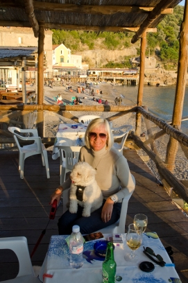 Jean and Poppie at Marina del Cantone