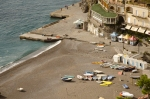 Positano beach in Autumn
