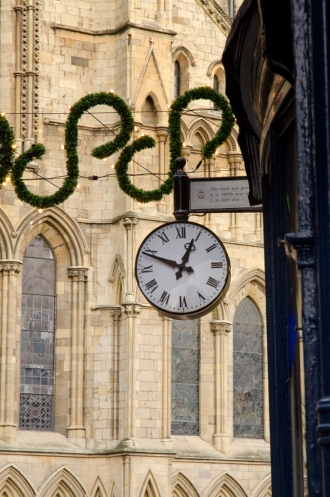 Clock in front of Minster