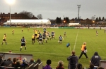 The Bedford Blues win a lineout early in the first half