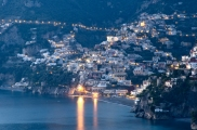 Twilight in Positano in early December