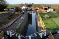 Grand Union locks No 26, 25 and 24
