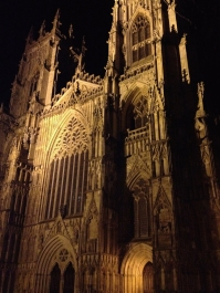 The York Minster on a chilly December night