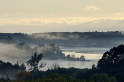 Morning Mist over Waimea Inlet