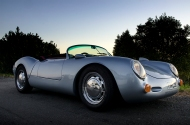 Porsche 550 replica at sunset