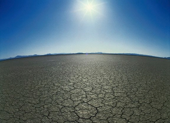 Dry Lake Bed of Mojave Desert