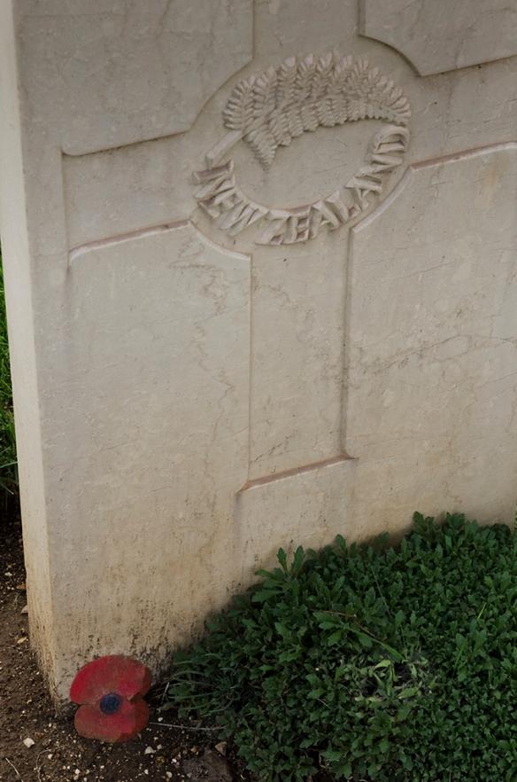 Poppy on grave 2013