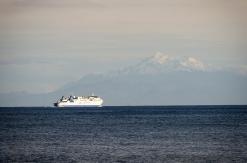 The Interislander ferry heading south