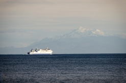 The Interislander ferry heading south