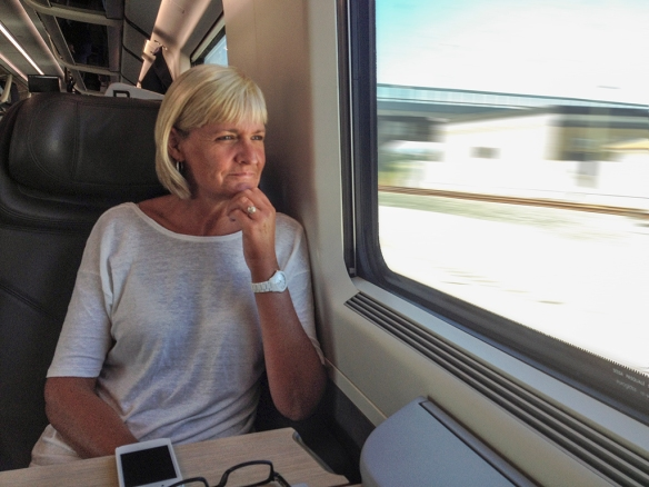 Jean travelling at 246 km/h north of Napoli