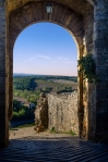 Monteriggioni's eastern gate after retouching