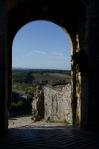 Monteriggioni's eastern gate before retouching