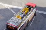 Open top tour bus
