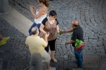 "Street vendor - ""roses for beautiful ladies"""