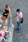 Street vendor - selfie sticks for sale