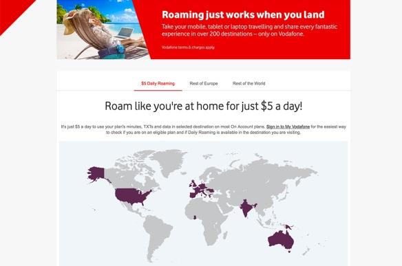 Voda $5 roaming